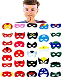 30 Superhero Masks Kids-Super Hero Party Supplies Justice League Birthday Favors
