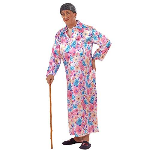 Exhibitionist Kostüm Nackte Oma mit Mantel S 48 Exhibitionisten Verkleidung Männer Großmutter im Morgenmantel Faschingskostüm Junggesellenabschied Nacktkostüm Lustiges Karnevalskostüm Herren Karnevalskostüme Erwachsene (Nackt Kostüme)