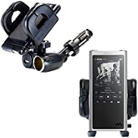 Dual USB / 12V Charger Car Cigarette Lighter Mount and Holder for the Sony Walkman NW-ZX300
