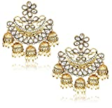 #10: YouBella Jewellery Gold Plated Pearl Fancy Party Wear Jhumka / Jhumki Earrings for Women Traditional Earrings for Girls