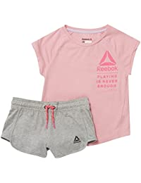 Reebok Conjunto G essentials-rosa-140