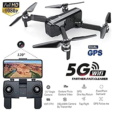 Faironly SJRC F11 GPS 5G Wifi FPV with 1080P Camera 25mins Flight Time Brushless Foldable Arm Selfie RC Drone Quadcopter