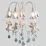 #Kronleuchter Moderner Kristallleuchter mit dem Wohnzimmer des Engels beleuchtet moderne helle Glanz-Lampe Geführte Leuchter-Innenbeleuchtung