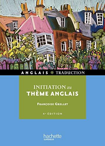 Initiation au thème Anglais (HU Langues et civilisations)