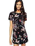 ASOS - John Zack - Vestido - Estuche - Floral - para mujer negro y rojo 36 / UK 10 / EU 38