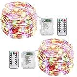 Stringa Luci Led,[2 Pack]Catene Luminose 10 metri 100LEDs Stringa Luci LED Impermeabile IP65 per Uso Interno ed Esterno per Decorazioni Festive e Natale (Multicolore)