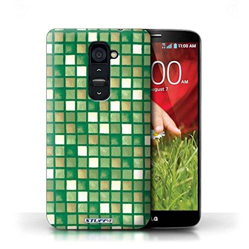 iCHOOSE Print Motif Coque de protection Case / Plastique manchon de telephone Coque pour iPhone 6+/Plus 5.5 / Collection Carreau Bain / Jaune/Marron Vert/Brun