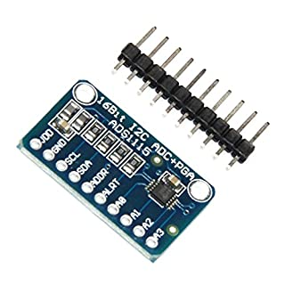 HiLetgo® 2pcs ADS1115 16 Byte 4 Channel IIC Analog-to-Digital ADC PGA Converter with Programmable Gain Amplifier High precision ADC Converter Development Board for Arduino Raspberry Pi