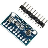 Hiletgo 2pcs ADS1115 16 Byte 4 canaux IIC/ADC PGA convertisseur avec réflexion programmable amplificateur haute précision ADC convertisseur carte de développement pour Arduino Raspberry Pi