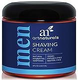 ArtNaturals Rasierschaum Creme für Männer - 236 ml - Geeignet für empfindliche Haut - Mousse zur Nassrasur - mit Shea-Butter und Seetang Extrakten