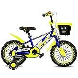 QXMEI Fahrrad-Kinder 16/14/12/18 Zoll-Mädchen Das 2-3-6-8 Jähriges Kind-Jungen-Fahrrad Radfährt,Blue-12Inches