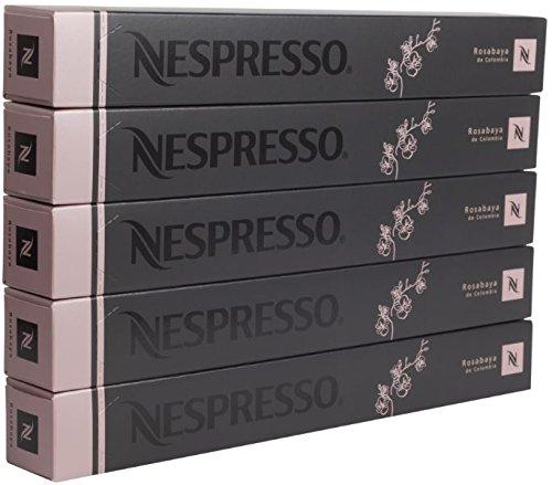 Shop for New original Nespresso Rosabaya de colombia flavour coffee 50 Capsules Pods 5 Sleeves Long expiry by Nespresso