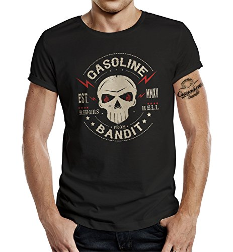GASOLINE BANDIT® Biker T-Shirt: Riders from Hell-XXXL
