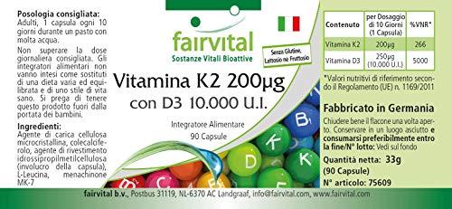 51wMMFCy kL - Vitamina K2 200 mcg con D3 10000 IU - Altamente dosificado - 90 cápsulas solamente 1 cápsula cada 10 días - ¡Calidad Alemana garantizada!