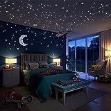Meloive Pegatinas de estrellas para pared que brillan en la oscuridad, 532 calcomanías luminosas de...