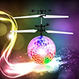 YKS Flying Ball,Children Flying Toys,infrared Induction Helicopter Ball Built-in Shinning Color Changing LED Lighting for Kids,Teenagers