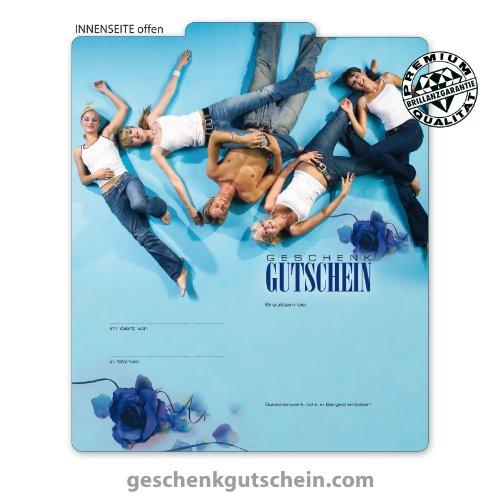 50 Stk. Multicolor-Geschenkgutscheine für Mode, Bekleidung, Fashion, Jeans FA212 (Bekleidung Geschenkgutscheine)