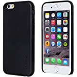 Adento PU Leder Premium Cover Case für iPhone 6 4.7 Zoll - Edles Kunstledercase in um Ihr iPhone optimal zu schützen - Schutzhülle mit hochwertiger Lederoptik - Schwarz