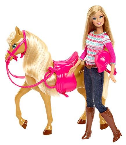 Mattel Barbie BJF78 - My Fab Pets und Pferd, Puppe