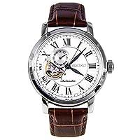 Seiko Reloj Analógico Automático para Hombre con Correa de Cuero - SSA231K1_Blanco-