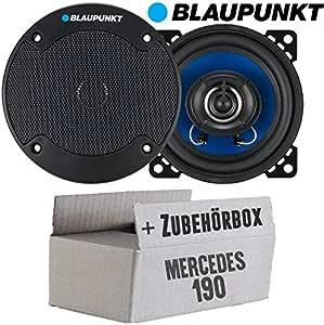 Mercedes 190 W201 Front Lautsprecher Boxen Blaupunkt Icx402 10cm 2 Wege Auto 100mm Einbauzubehör Einbauset Navigation
