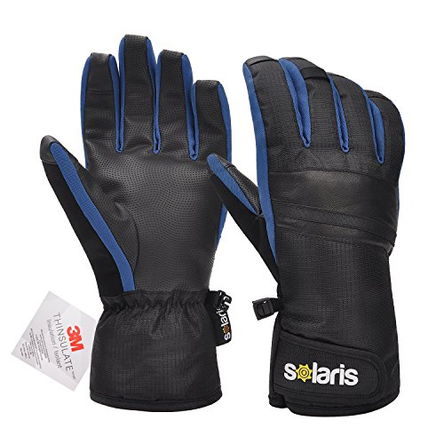 Skiing Gloves, Winter Warmest 3M Insulation Anti-slip Waterproof Snow Gloves for Skiing, Snowboarding, Motorcycling, Cycling, Outdoor Sports, Men and Women, Blue