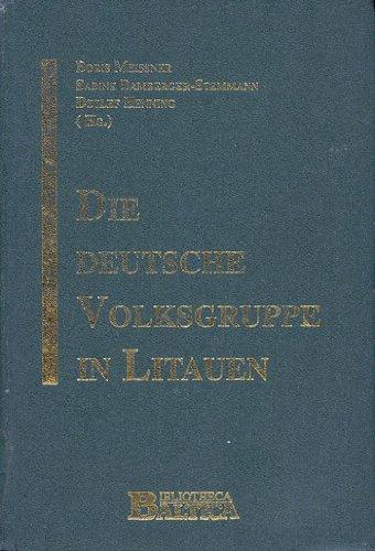 Die deutsche Volksgruppe in Litauen und im Memelgebiet während der Zwischenkriegszeit