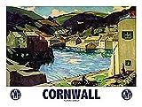 Cornwall Polperro Harbour blechschild (og 2015)
