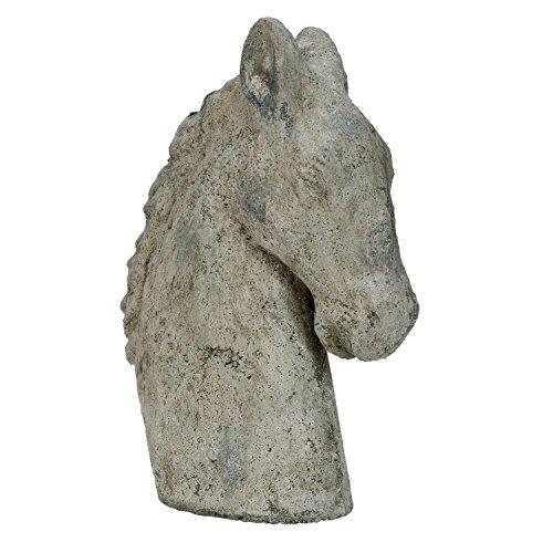 Clayre & Eef 6TE0084 Deko Dekoration Figur Pferdekopf natürlich ca. 31 x 24 x 21 cm (Pferdekopf Figur)