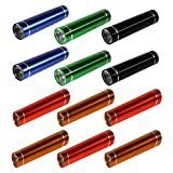 12er Pack 8cm LED Taschenlampe aus Edelstahl von Kurtzy - Rote, Blaue, Grüne, Schwarze und Gelbe Taschenleuchten - Großes Set aus Taschen Lampen - Flashlight mit Kaltweißem Licht - Kleine Handlampe mit AA Batterien im Lieferumfang Enthalten
