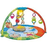 Chicco - Alfombra electrónica Bubble Gym con mp3, luces, 7 colgantes y cojín incluido