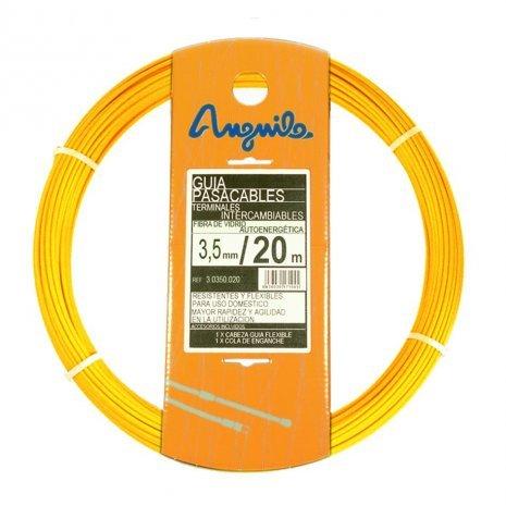 Foto de Anguila - Pasacables fibra autoenergetica 3,5mm 15m amarillo