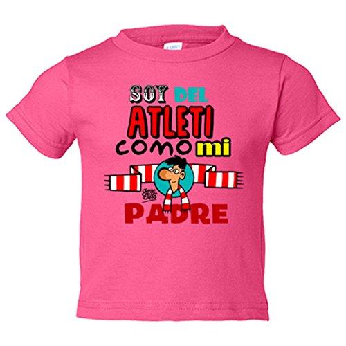 Camiseta niño Atlético de Madrid soy del Atleti como mi padre - Rosa 844b2b8be97a4