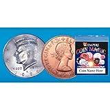 Moneda Doble Plata/Cobre - 1/2 $ /Penique - Juego de Magia