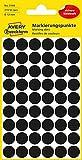 AVERY Zweckform 3140 selbstklebende Markierungspunkte (Ø 12 mm, 270 Klebepunkte auf 5 Bogen, runde Aufkleber für Kalender, Planer und zum Basteln, Papier, matt) schwarz
