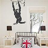 pegatinas de pared harry potter Chimpancé Colgante Lindo Cuarto de niños Dormitorio de los niños Decoración Animales Serie Naturaleza Mono Ceative