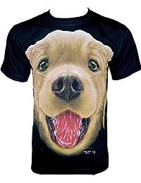 Rock Chang T-Shirt * Sweet Puppy * Glow In The Dark * Noir GR594