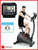 Exercise Bike SPORTSTECH ESX500 with smartphone app control + Google Street View, 12KG inertia, pulse belt compatible – fitness bike hometrainer with low-noise belt drive system