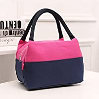 Preisvergleich für Lunch Bags, HOMREE Waterproof Canvas Lunch Bag Reusable Fashion Lunch Tote Bag Lunch Bag Grocery Bags with Zipper (Pink) by HOMREE