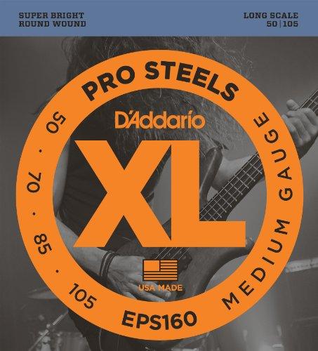 D'Addario EPS160 - Juego de cuerdas para bajo eléctrico de acero.050 .070...
