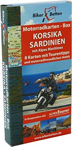 Korsika-box (Motorradkarten Box Korsika Sardinien: mit Alpes Maritimes)