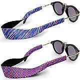 Correa de gafas de sol, ajuste la mayoría de los anteojos y gafas --- retenedor de gafas KEKU 2PCS, duradero y suave, ideal para la pesca, ciclismo, senderismo, escalada, etc (morado)