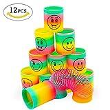 MMTX Mitgebsel Kindergeburtstag Gastgeschenke für Kinder,12 Stück Groß Regenbogenspirale Frühling Regenbogen Spielzeug für Party