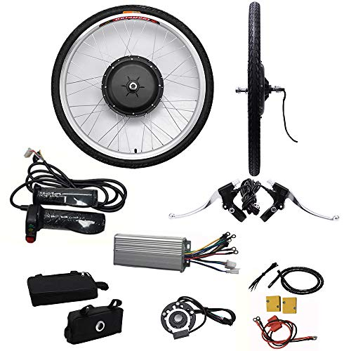"SHIOUCY Hub Motor 48V / 36V E-Bike Motor Hub Electric Bicycle Conversion Kits 26"" Front/Rear Motor Umbausatz Frontmotor Vorderrad Bike Pedelec Tire (48V)"