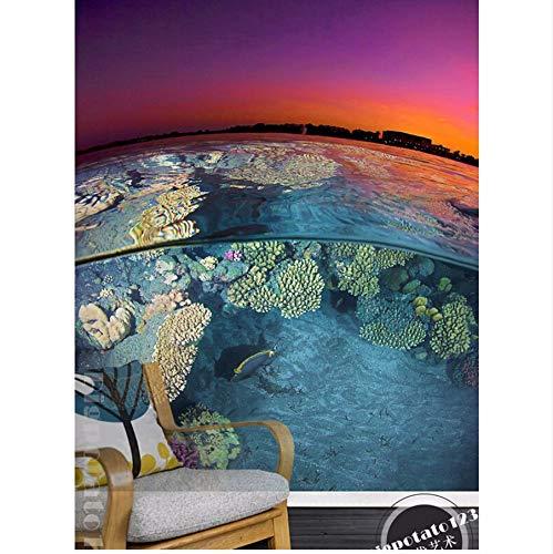 Pmhhc Kundenspezifisches 3D Naturwandbild Die Schöne AntenneWohnzimmer-Fernsehwand-Schlafzimmertapeteder Morgensonne-Erdlandschaft.-350X245Cm