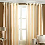 Optimistic Home Furnishing-cream -Crush -Door Curtain-(set of 2)