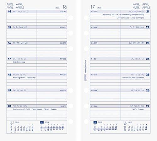 BRUNNEN Kalendarium für Timer, Ringbuchkalender Timer-Einlage Wochenkalendarium, 2015, 9 (107490415)