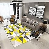 Wohnzimmer Geometrische Muster 3D Printing & Draping Dekorative Teppiche Geometrische Muster Fußmatten Europäischen Einfachen Stil Rechteckige Teppiche Kinderteppiche Schlafzimmer Rutschfeste Teppiche Teppich Teppiche