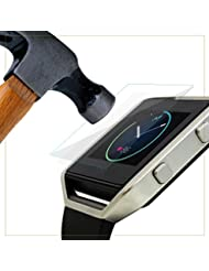 exinoz® Fitbit Blaze gehärtetem Glas Displayschutzfolie i Hochwertiger Schutz mit 1Jahr Ersatz Garantie I Get Das Beste für Ihr Fitbit Blaze Smart Watch I