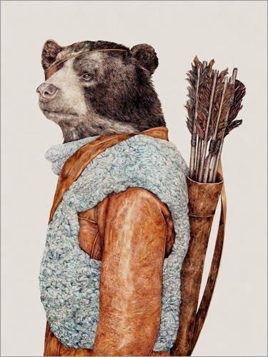 Poster 30 x 40 cm: Hunter de Animal Crew - reproduction haut de gamme, nouveau poster